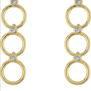 Kate Spade yellow gold colored chain earrings